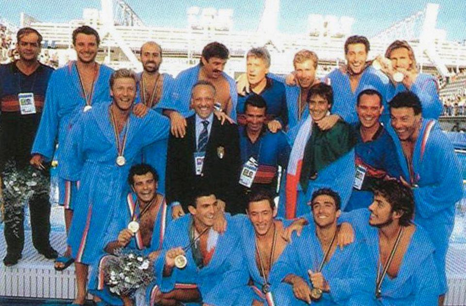Il Settebello vincitore della medaglia d'oro olimpica di Barcellona 1992