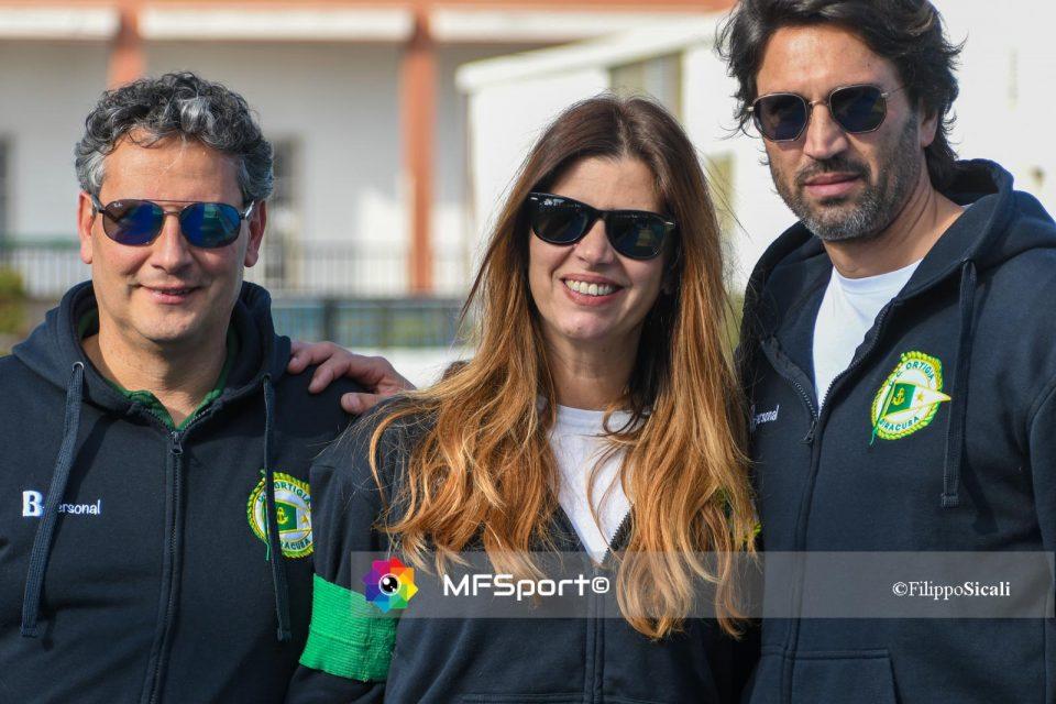Luigi Capodieci con Silvia Bonocordo e Damiano Vinci, Alcuni componenti dello staff del Circolo Canottieri Ortigia