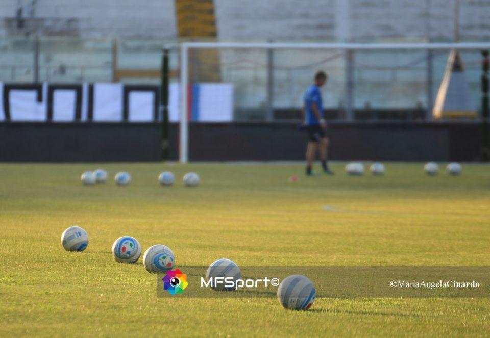 Preparazione della partita allo Stadio Massimino