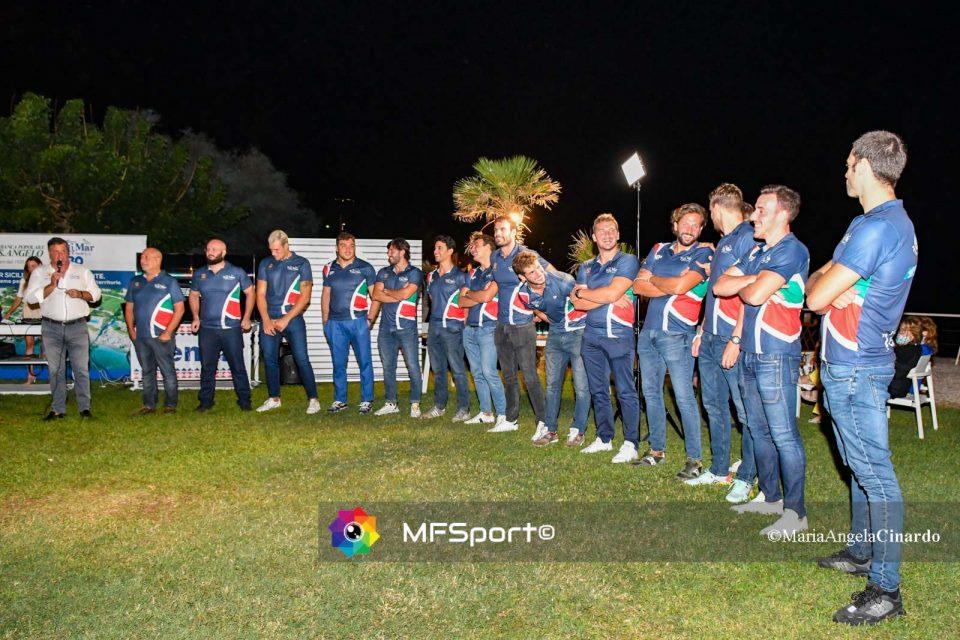 La squadra di pallanuoto 2020-21 del Circolo Telimar Palermo