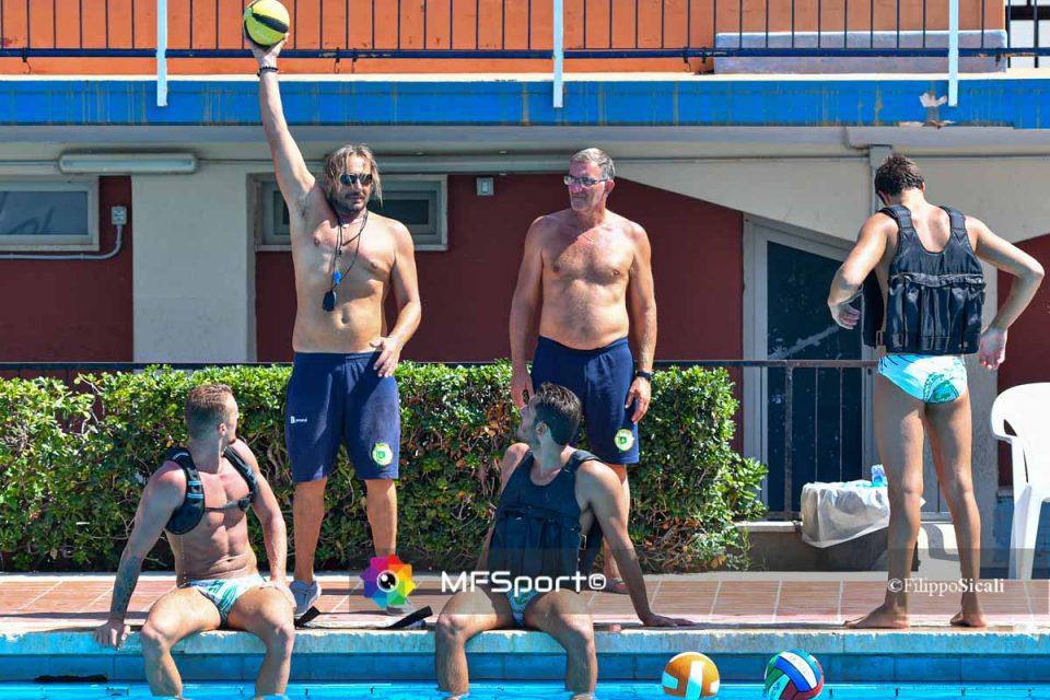 Stefano Piccardo in allenamento con il CC Ortigia