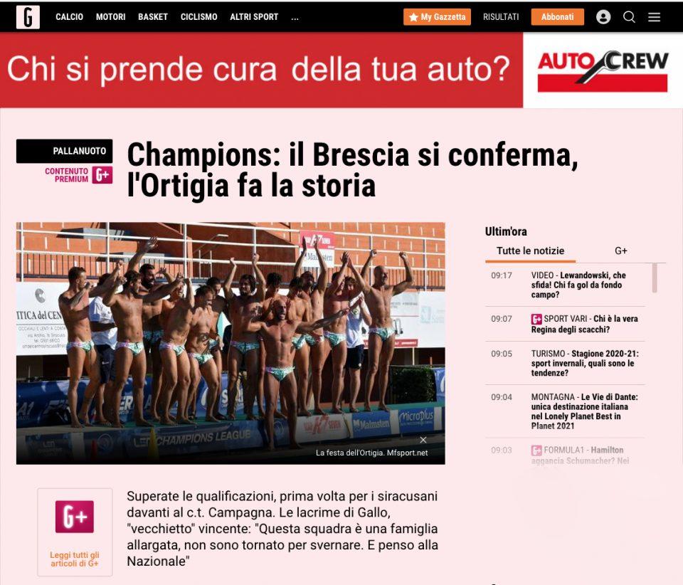 Gazzetta dello Sport - 15-11-2020