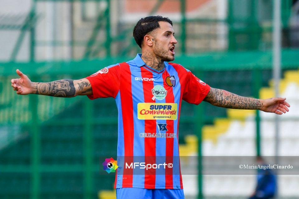 Manuel Sarao, autore del gol della vittoria rossazzurra