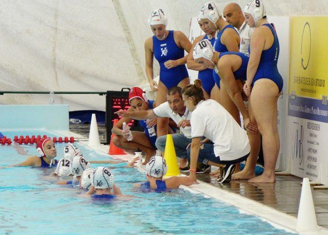 Milko Pace, tecnico della Vela Ancona, con la squadra