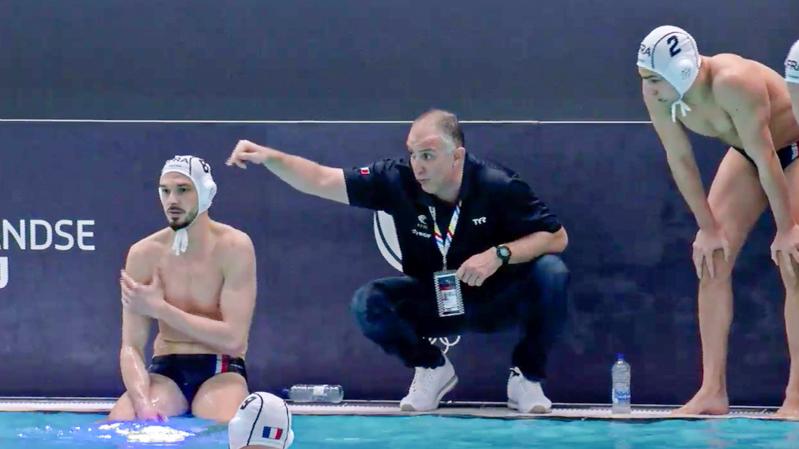 Nenad Vukanic, coach della Francia, al time out