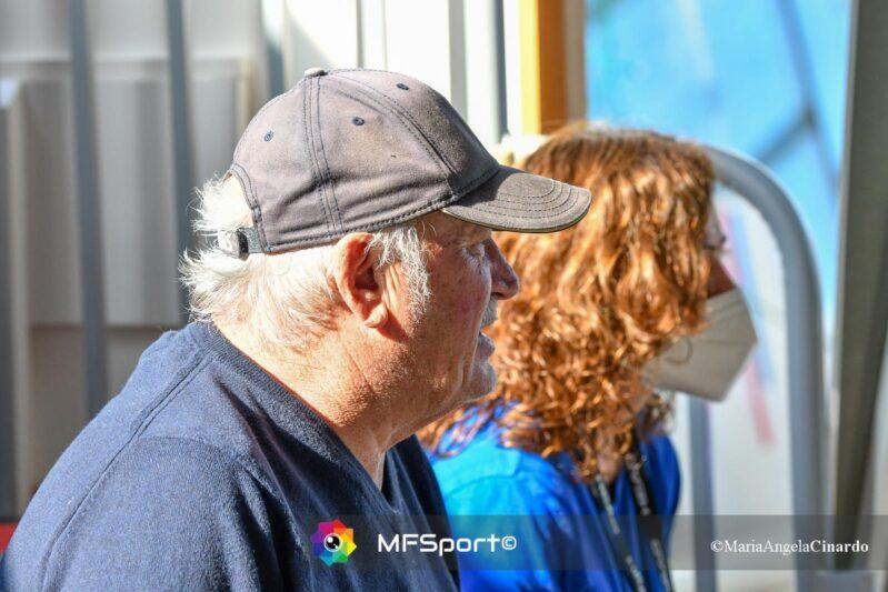 Pierluigi Formiconi con Moira Vaccalluzzo allenatrice della squadra femminile di pallanuoto di Torre del Grifo