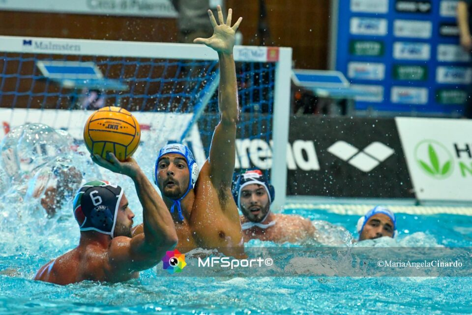 Vlahovic (Telimar Palermo) vs Alessandro Velotto (Pro Recco)