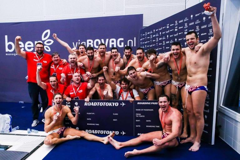 La Croazia dopo le qualifiche olimpiche foto: FINA/Facebook ( Marcel ter Bals/Orange Pictures)
