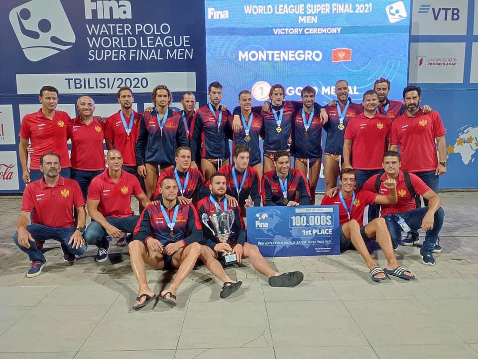 La nazionale del Montenegro vincitrice della World League 2021
