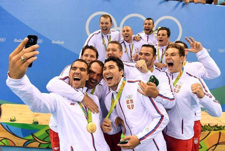 Serbia, campione olimpico a Rio de Janeiro. Photo: waterpoloserbia.org